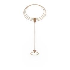 Üçgen Şahmeran Bilezik - 925 ayar rose altın kaplama gümüş bilezik #8qr7ms