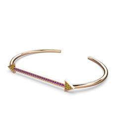 Diane Ok Bilezik - Peridot ve ametist 925 ayar rose altın kaplama gümüş bilezik #10wap5w