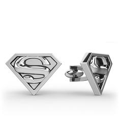 Superman Kol Düğmesi - 925 ayar gümüş kol düğmesi #1hsew5c