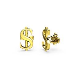 Dolar Kol Düğmesi - 925 ayar altın kaplama gümüş kol düğmesi #1y0r3wm