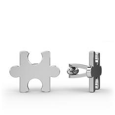 Puzzle Kol Düğmesi - 925 ayar gümüş kol düğmesi #vw9wg9