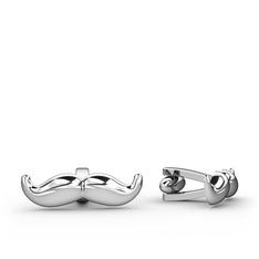 Bıyık Kol Düğmesi - 925 ayar gümüş kol düğmesi #1qddxc8