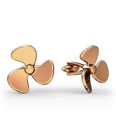 Gemici Kol Düğmesi - 925 ayar rose altın kaplama gümüş kol düğmesi #endt78
