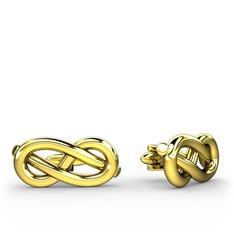Fiador Düğüm Kol Düğmesi - 925 ayar altın kaplama gümüş kol düğmesi #1tf0cwl