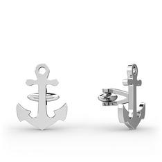 Çapa Kol Düğmesi - 925 ayar gümüş kol düğmesi #ej2xb1