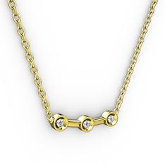 Minna Kolye - Elmas 14 ayar altın kolye (0.033 karat, 40 cm altın rolo zincir) #gmc0z0