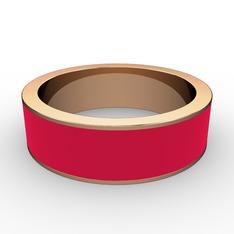 Lasa Yüzük - 925 ayar rose altın kaplama gümüş yüzük (Kırmızı mineli) #1r2d865