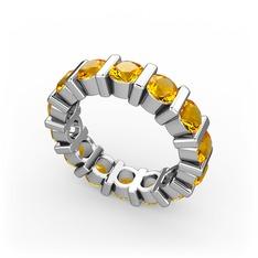 Lania Tamtur Yüzük - Sitrin 925 ayar gümüş yüzük #197xnv7