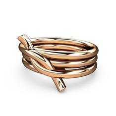 Fiador Düğüm Yüzük - 925 ayar rose altın kaplama gümüş yüzük #1ibyxh1