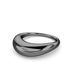 Helen Yüzük - 925 ayar siyah rodyum kaplama gümüş yüzük #kscn5n