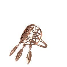 Dreamcatcher Yüzük - 925 ayar rose altın kaplama gümüş yüzük #12i59vt