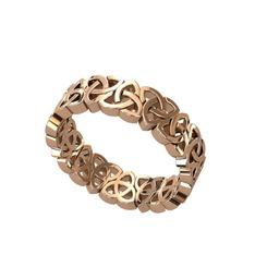 Triquetra Tamtur Yüzük - 925 ayar rose altın kaplama gümüş yüzük #1gncv7m