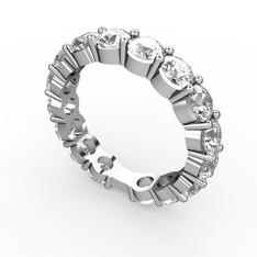 Rosen Tamtur Yüzük - Beyaz zirkon 925 ayar gümüş yüzük #183a17u