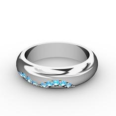 Vitalis Alyans (Kadın) - Akuamarin 925 ayar gümüş yüzük #3ks0yu