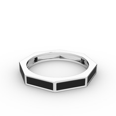 Noa Yüzük - 925 ayar gümüş yüzük (Siyah mineli) #10tw6ks