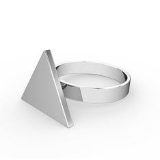 Mita Üçgen Yüzük - 925 ayar gümüş yüzük #iibf5s